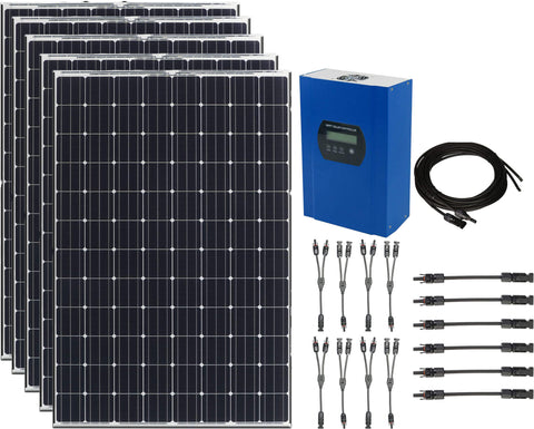 500W 12V Solar Power Kit with 40A Controller