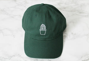 Cactus Pot Dark Green Baseball Hat