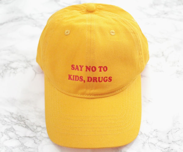 Say No To Kids, Drugs Baseball Hat