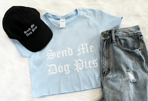 Send Me Dog Pics Crop Shirt