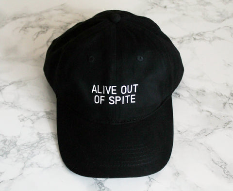Alive Out Of Spite Baseball Hat