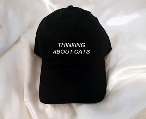 Thinking About Cats Baseball Hat