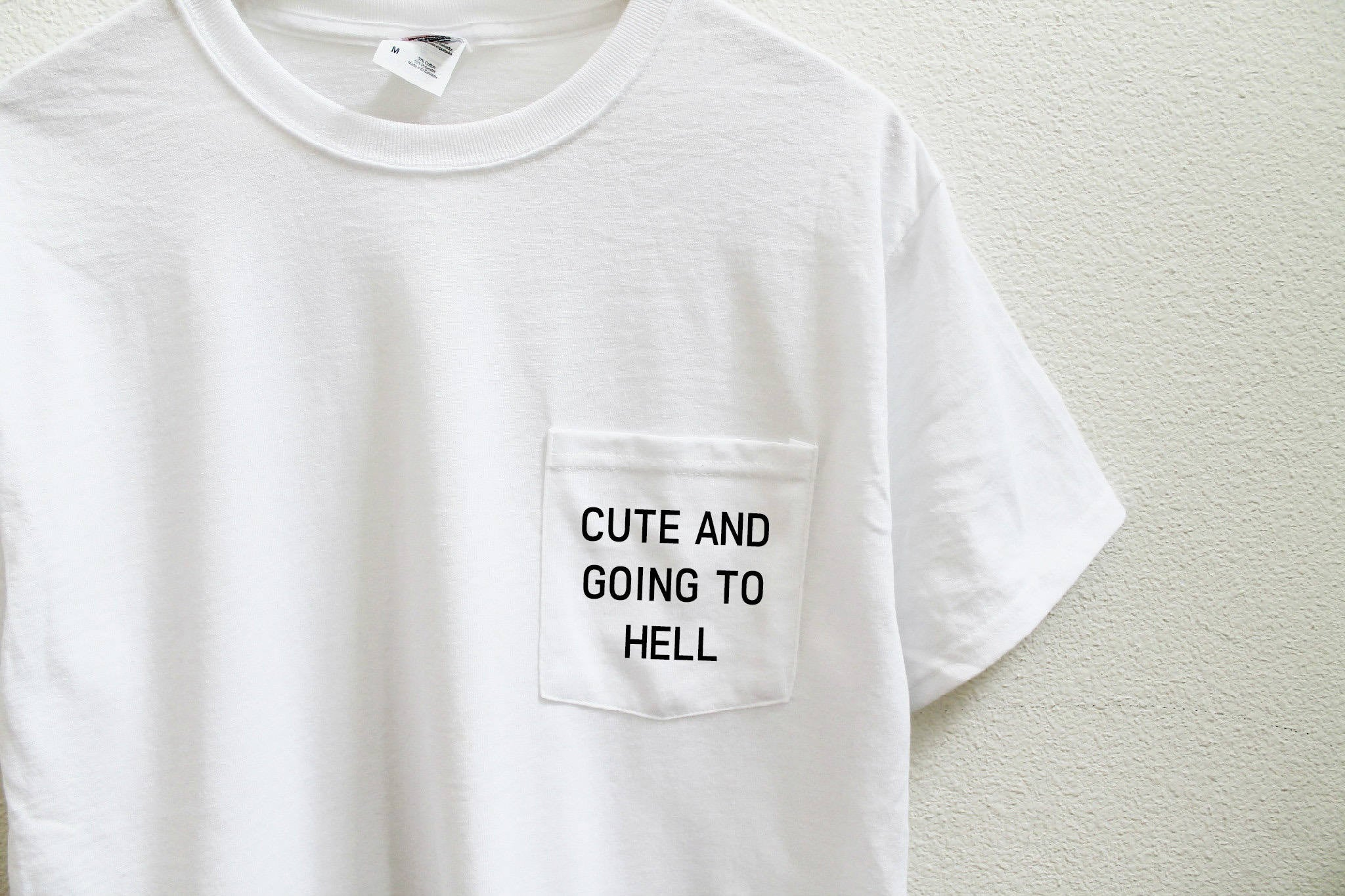 Cute And Going To Hell Pocket Unisex T-Shirt
