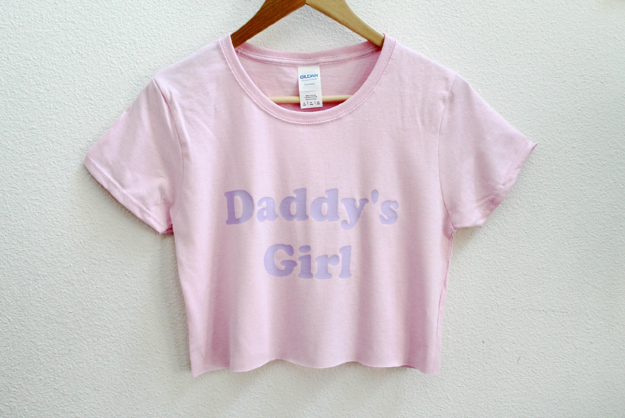 Daddy's Girl Pink Crop Shirt XS-3XL