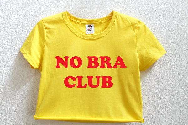 No Bra Club Crop Shirt