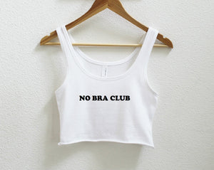 No Bra Club Crop Tank XS-2Xl