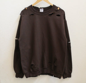 Brown Distressed Sweatshirt