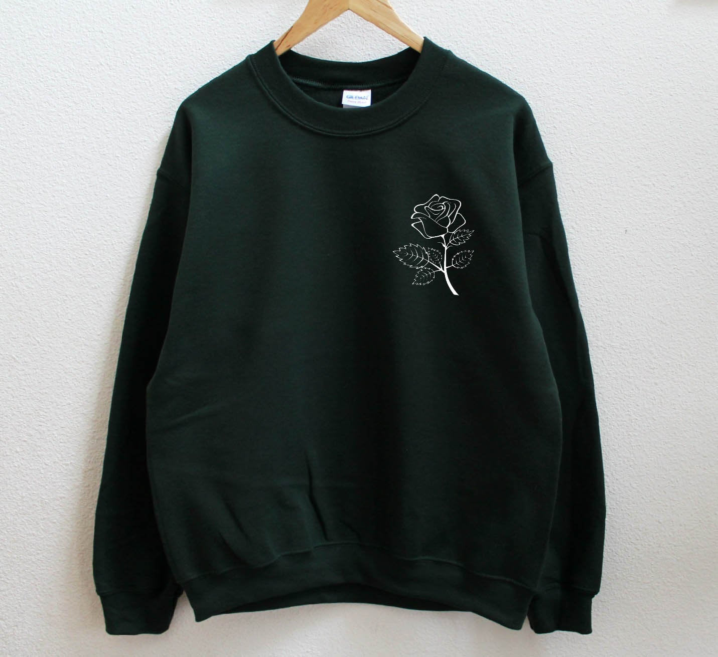 Rose Green Sweatshirt