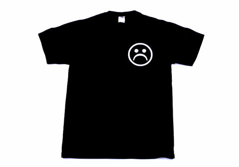 Sad Face Black Unisex T-Shirt