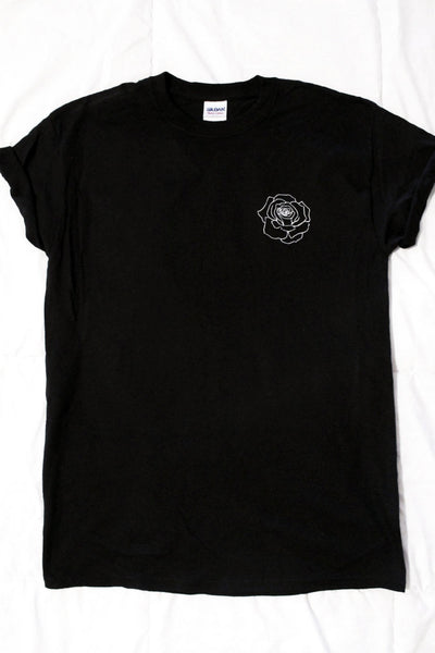 Rose Black Unisex T-Shirt