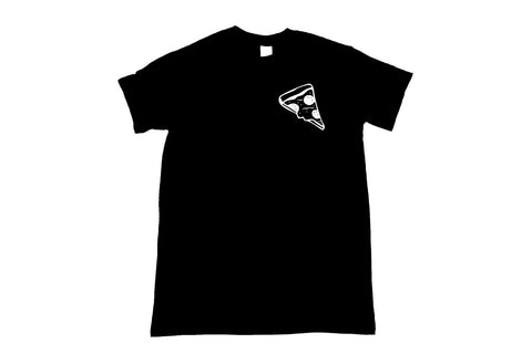 Pizza Black Unisex T-Shirt