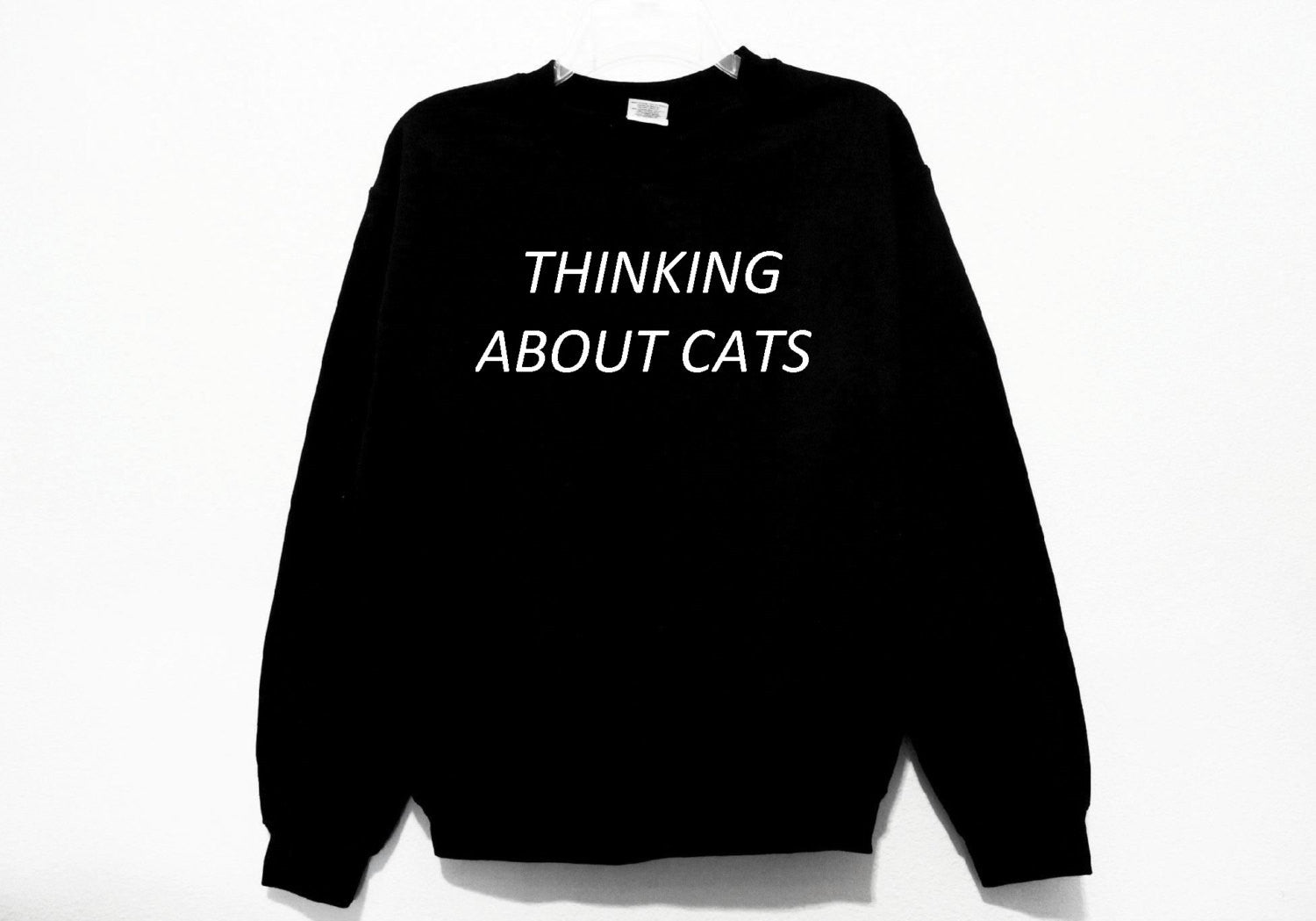 Thinking About Cats Sweatshirt
