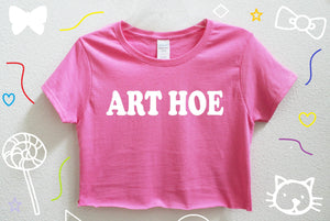 Art Hoe Crop Shirt