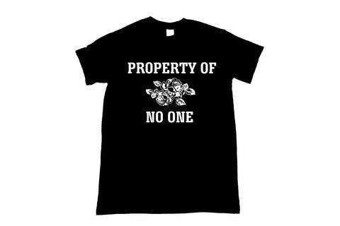 Property Of No One Unisex Black T-Shirt