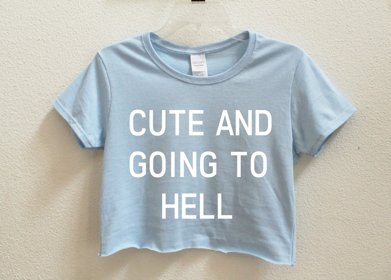 Cute And Going To Hell Crop Shirt