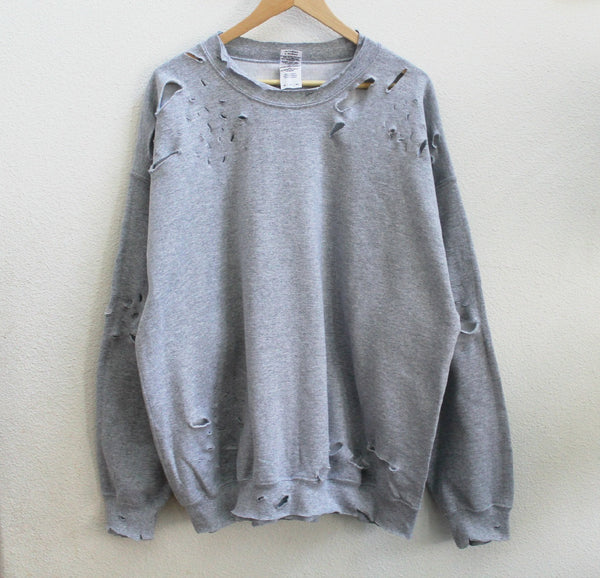 Distressed Sweatshirt (Black, Green, Grey)