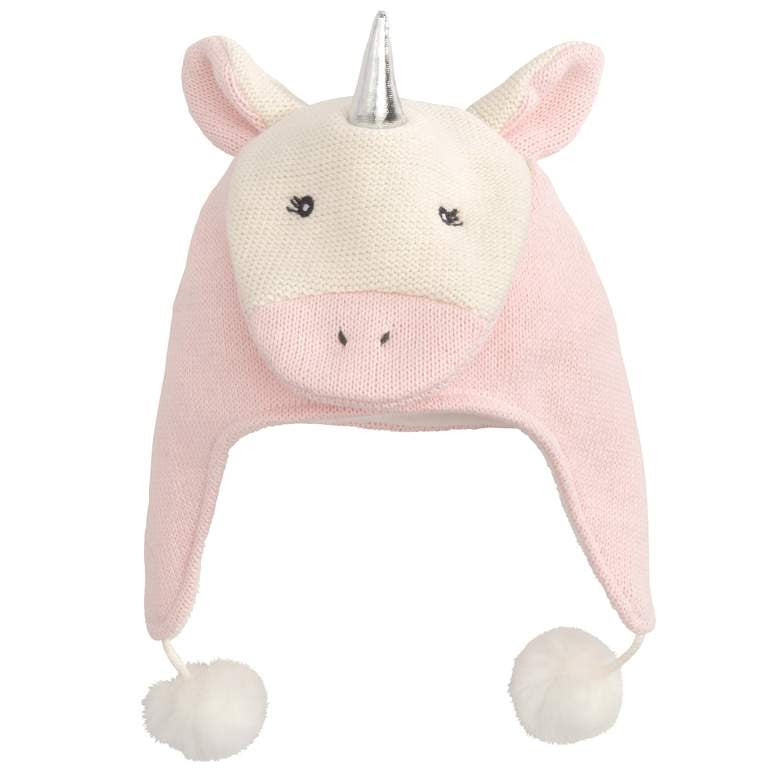 a knitted hat that resembles a unicorn