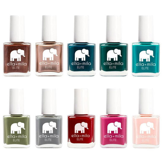 a set of vegan nail polish shades