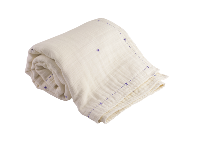 a lightweight organic cotton blanket