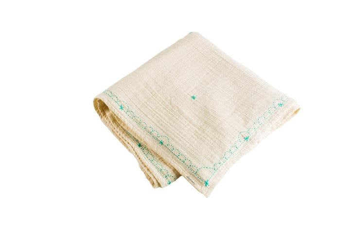 an organic swaddle made of cotton