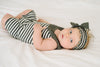Stripe-A-Pose Bubble Romper-Gray/Biege
