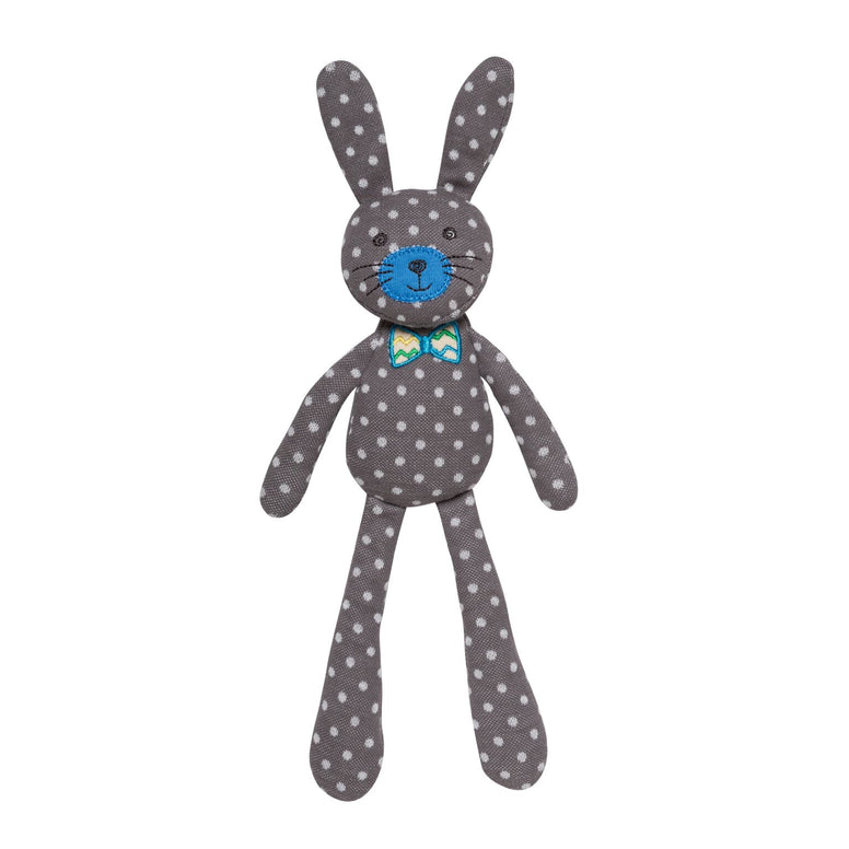 Gray Polka Dot Farm Bunny