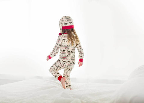 Holiday PJ & Cap Set- Fair Isle Reindeer