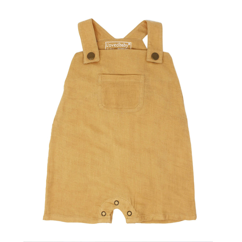 Organic Muslin Overall- Apricot