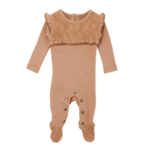 Footed Nutmeg Lace Overall