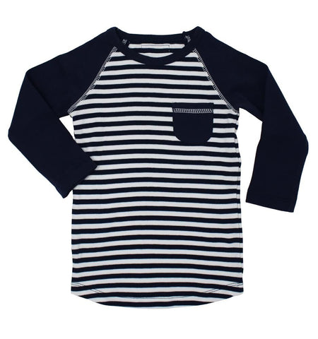 Raglan T-Shirt- Navy/White
