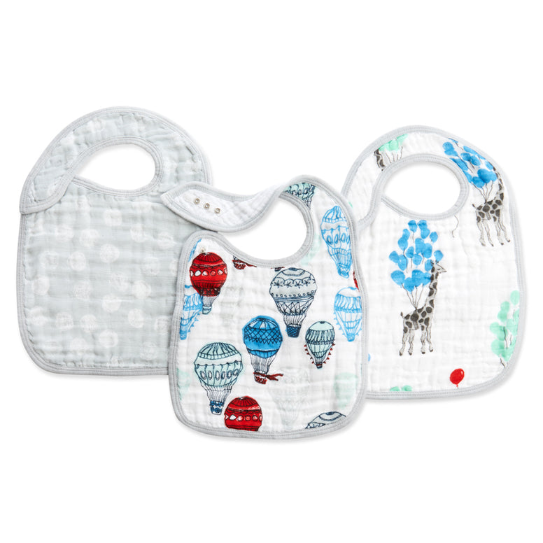 Dream Ride 3-Pack Snap Bibs