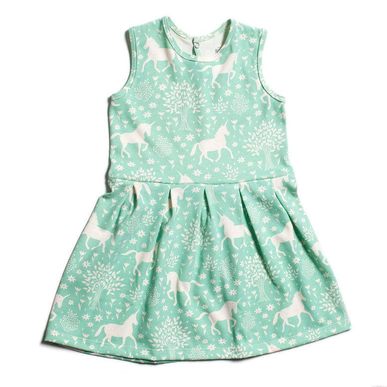 Essex Dress- Magical Forest Mint