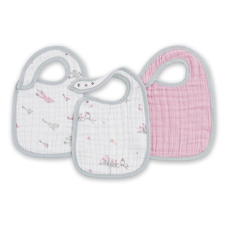 For The Birds 3-Pack Snap Bibs