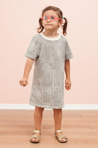 Juno Dress- Sailboat Navy