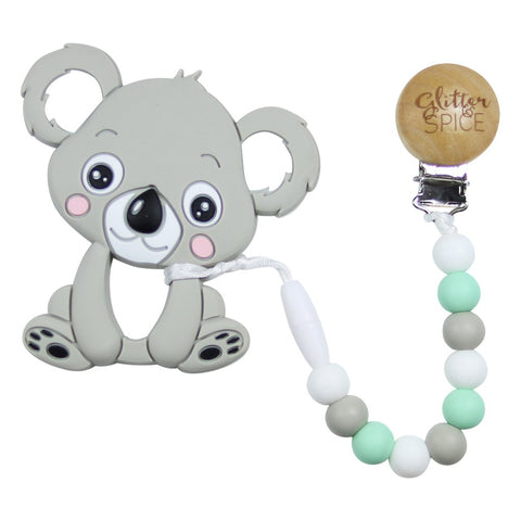 Kola Bear Teether - Mint
