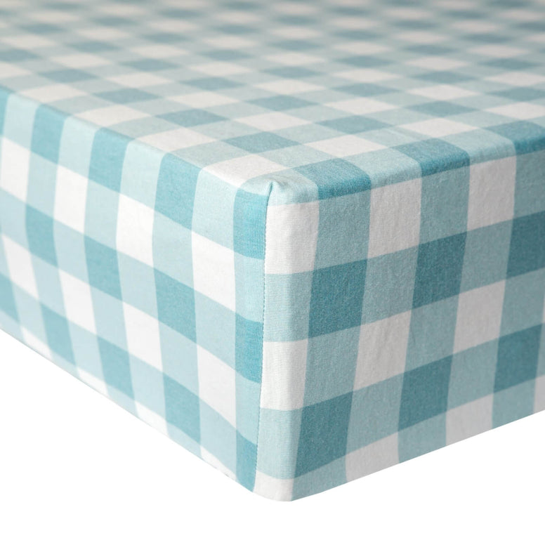 Cotton Fitted Crib Sheet-Lincoln