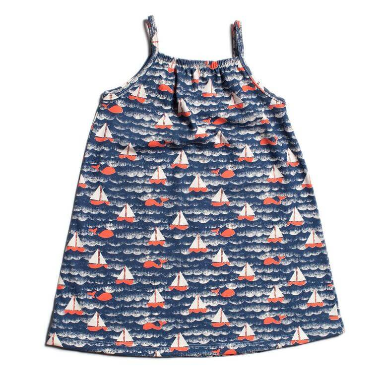 Milano Dress- Sailboat Navy