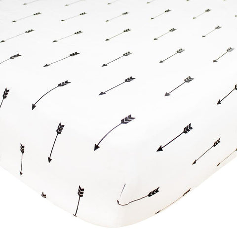Cotton Fitted Crib Sheet-Native