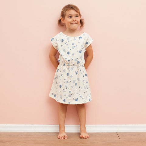 Sierra Baby Dress in Garden Print | Organic Baby Clothes