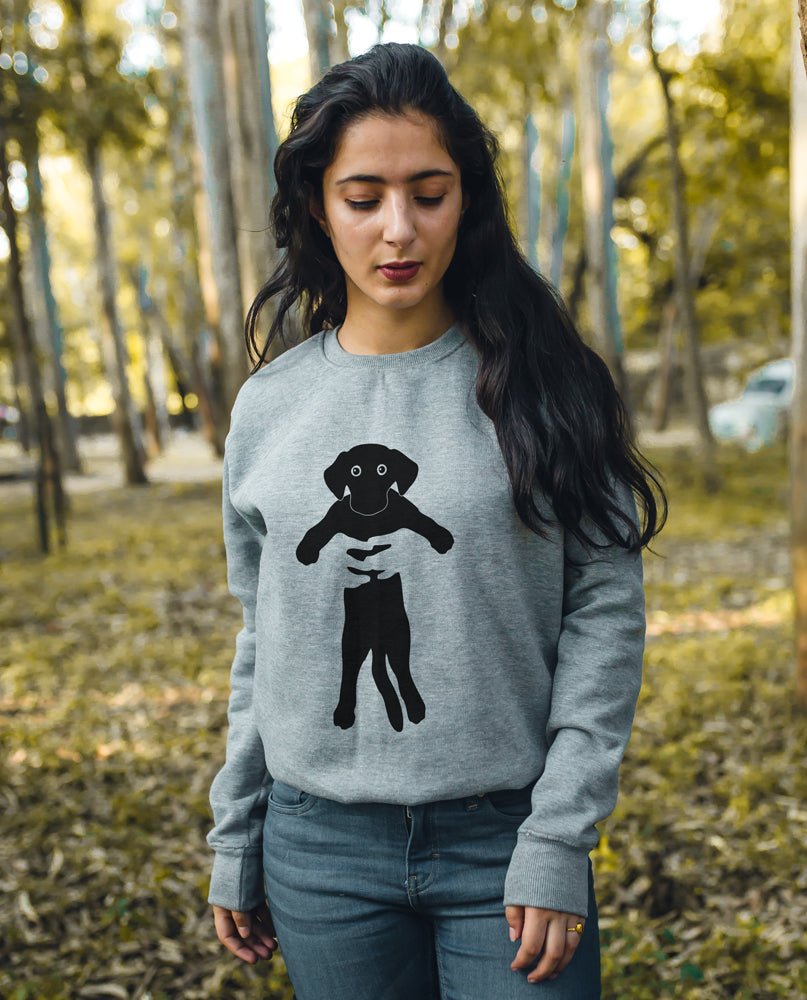 Holding Dog Sweatshirt
