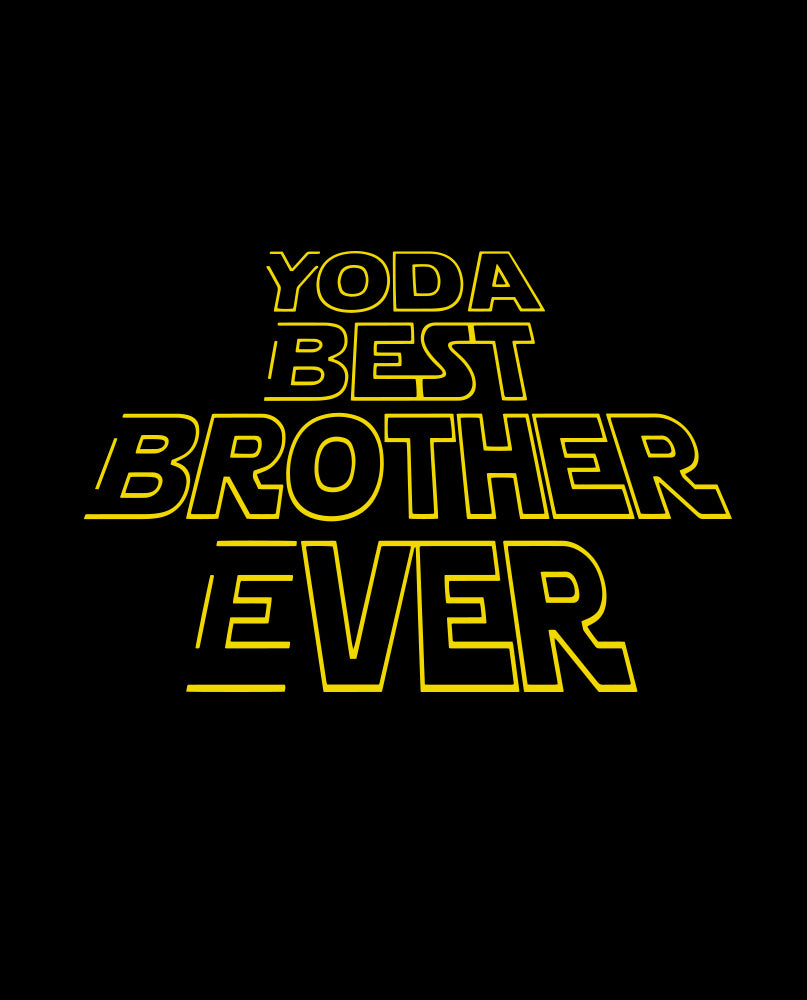 Yoda Best Brother Tshirt