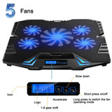 Laptop Cooler With Stand With 5 Fans and LED Screen - For 12-15.6 inch Laptops