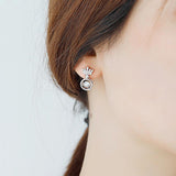 Crown Shape Beating Heart Earring