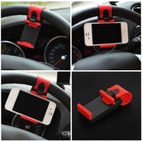 Universal Car Steering Wheel Clip Mount Holder for iPhone 8 7 7Plus 6 6s 4 4s 5 5s