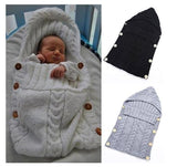 Baby Wrap Swaddle Blanket Toddler Wool Knit Blanket Swaddle Sleeping Bag Sleep Sack Stroller Wrap for 0-12 Month Baby