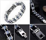 Blue Crystal Bike Bracelet