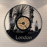 London Vinyl Record CD Clock