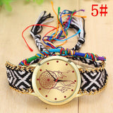 VINTAGE WOMEN WATCH QUARTZ HANDMADE KNITTED DREAM CATCHER NATIVE FRIENDSHIP WATCHES