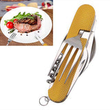4 in 1 Folding Stainless Steel Utensil