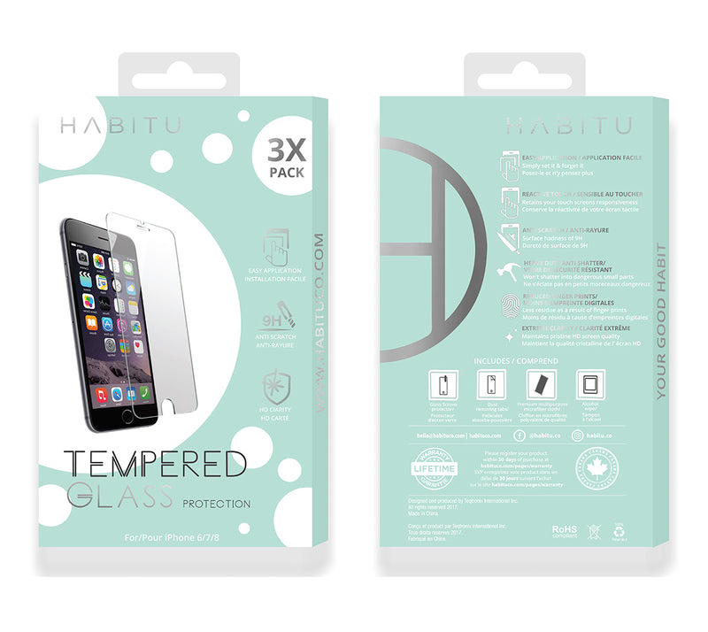 Tempered Glass Protector - Triple Pack